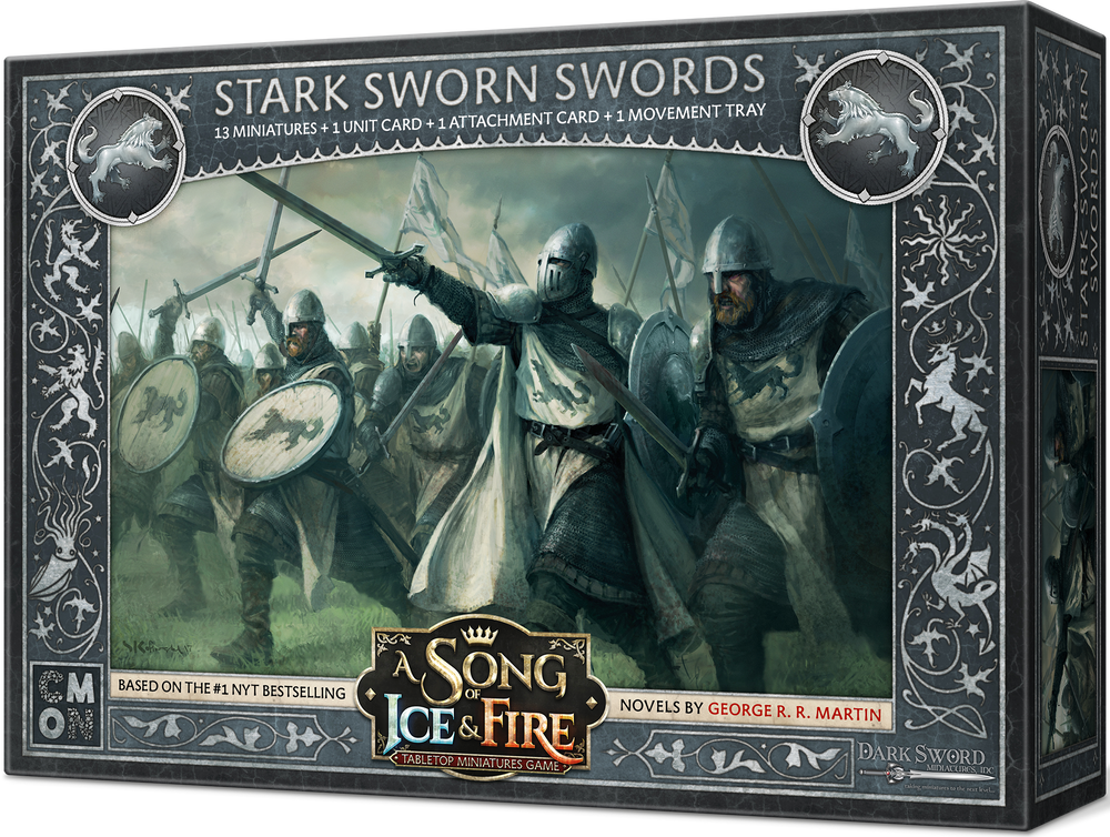A Song of Ice & Fire: Tabletop Miniatures Game – Stark Sworn Swords - Board Game - The Dice Owl