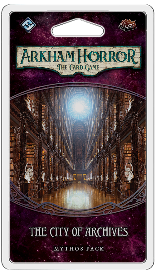 Arkham Horror: The Card Game – The City of Archives: Mythos Pack - Board Game - The Dice Owl