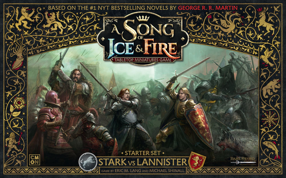 A Song of Ice & Fire: Tabletop Miniatures Game – Stark vs Lannister Starter Set - Board Game - The Dice Owl