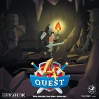 A4 Quest - Board Game - The Dice Owl