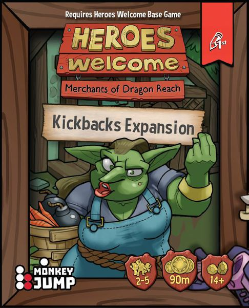 Heroes Welcome: Kickbacks Expansion - The Dice Owl - Board Game