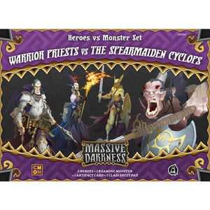 Massive Darkness: Heroes & Monster Set – Warrior Priests vs The Spearmaiden Cyclops - Board Game - The Dice Owl