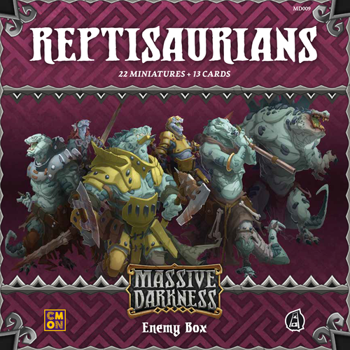 Massive Darkness: Enemy Box – Reptisaurians - Board Game - The Dice Owl