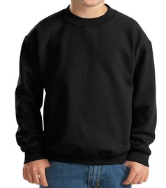 Girls Lacrosse - Black Crew Neck Sweatshirt - Clearance