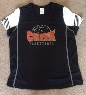 Creek Basketball Bling on Holloway Dry Fit Shirt