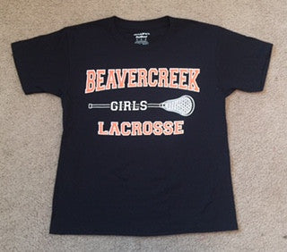 Beavercreek Girls Lacrosse - 50/50 Cotton T-shirt - Short Sleeve (4 Color Options) - Clearance