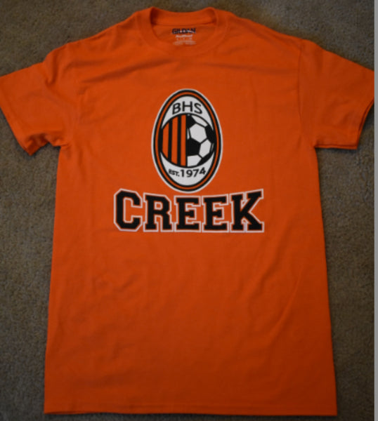 Beavercreek Boys Soccer Logo with Star - 50/50 T-shirt (3 Color Options)