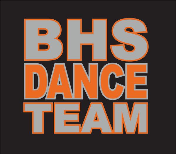 BHS Dance Team - Ink Version - Extra Printed Inventory