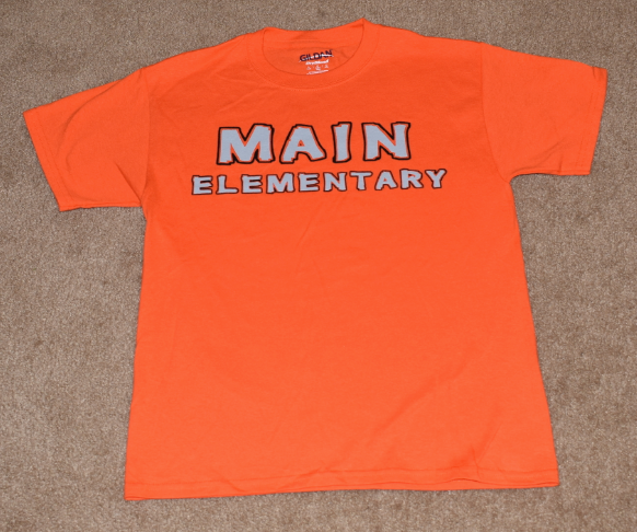 Main Elementary - Clearance - Short Sleeve Orange, T-shirt