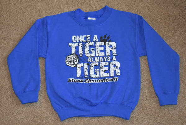 Shaw Elementary - Clearance - Tiger - Crew Neck Sweatshirt