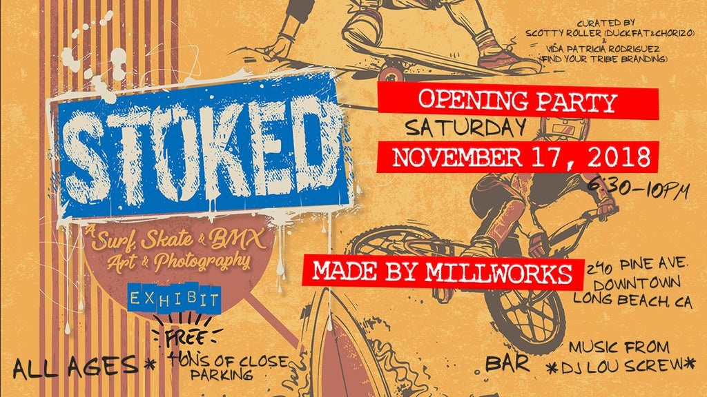 Stoked: Surf, Skate, and BMX Themed Art Show