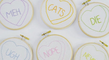 Summer Camp Sundays - Embroidered Heart Wall Art