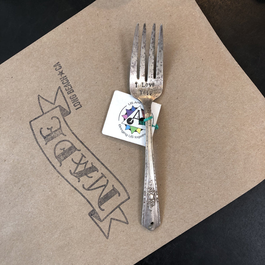 Hand Stamped Re-cycled Silverware by US Art Alliance