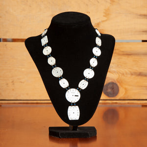Clock Face Necklace with Beads