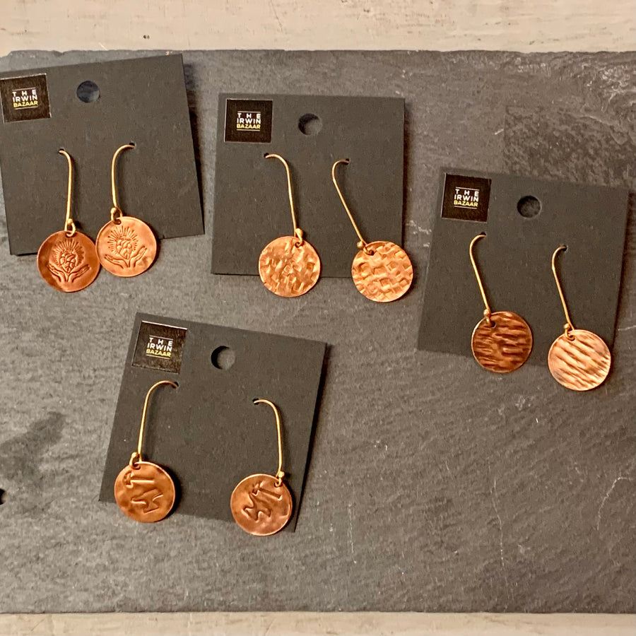 Copper Dangle Earring Collection