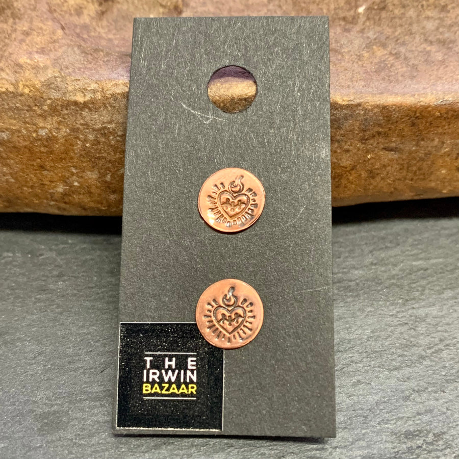 Stamped Metal Stud Earring Collection