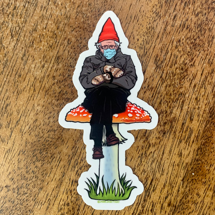 Bernie is a Fungi Sticker