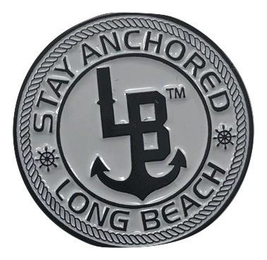 Stay Anchored Long Beach Enamel Pin