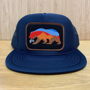 California Bear Sunset Patch Trucker