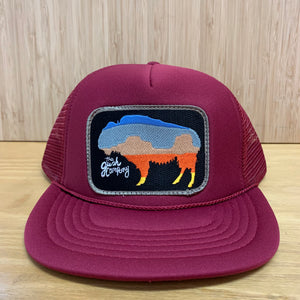 Buffalo Sunset Patch Trucker