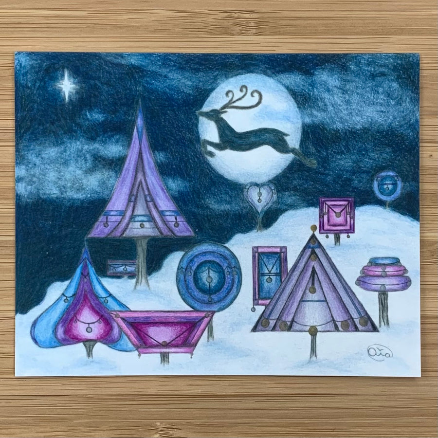 Luna Rising Art Studio Holiday Card Collection