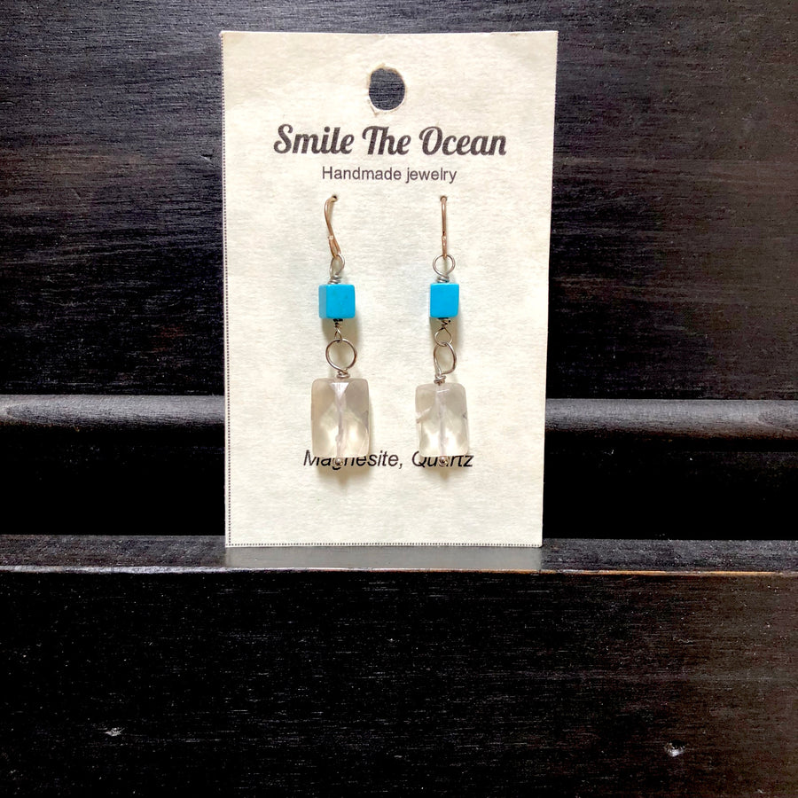 Smile - Magnesite and Crystal Quartz Dangles