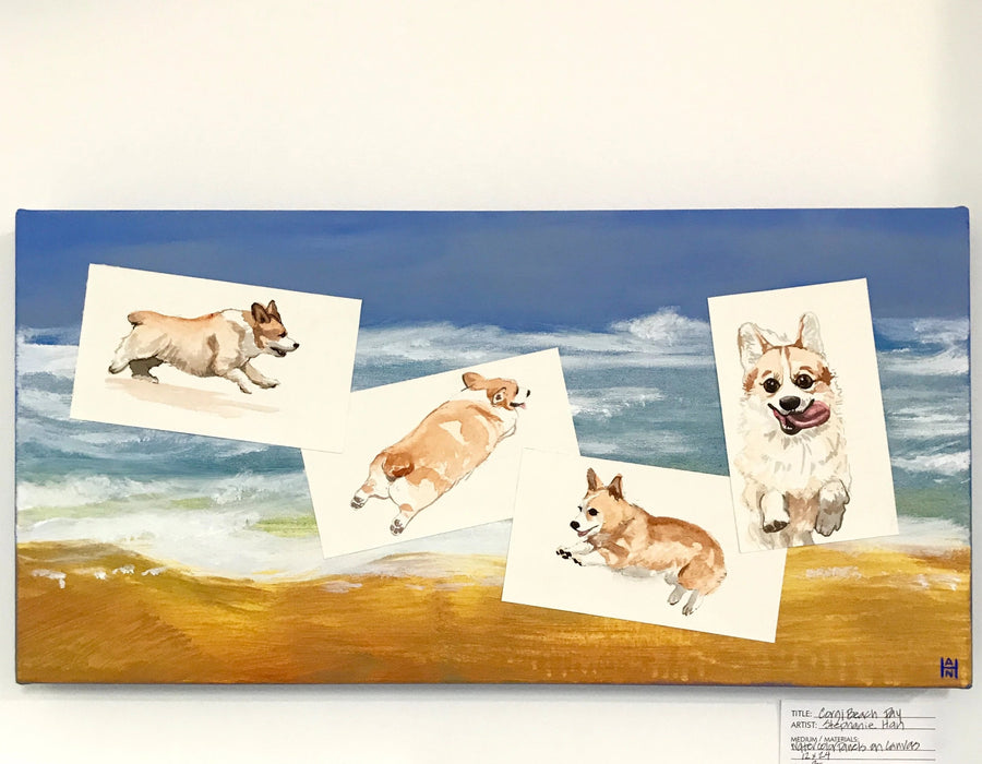 Stephanie Han - Corgi Beach Day