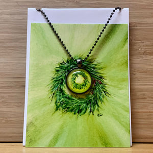 Luna Rising Holiday Card & Necklace Combo Collection