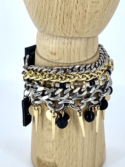 Rocky Multi-Chain Bracelet Collection