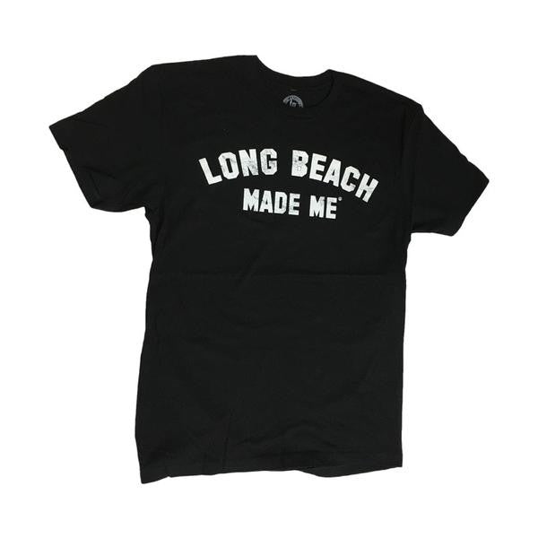 Long Beach Made Me - Black Femme Cut Tee