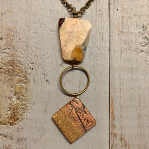 Pendant Necklace with Reclaimed Stones
