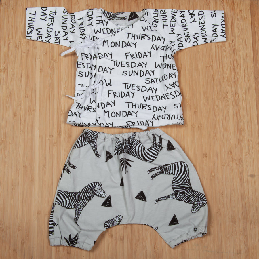 Paloma and Porkchop Kimono and Pant Set