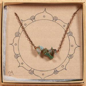 Gemstone Bar Necklace Collection