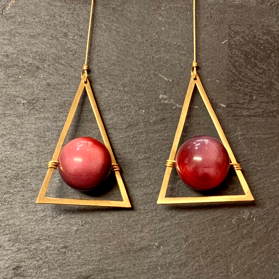 Brass x Vintage Bead Dangle Earring Collection