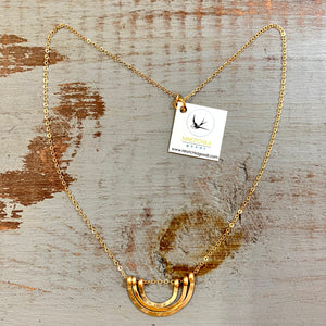 Ninotchka Triple Textured Arches Necklace