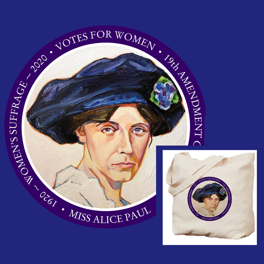 Miss Alice Paul Suffrage Centennial Tote Bag