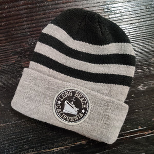 Long Beach Striped Beanie