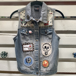 Forgotten Saints Long Beach Denim Vest