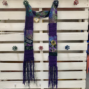 Forgotten Saints Fringed Purple Scarf