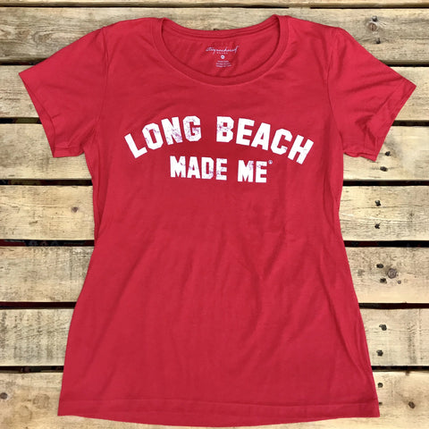 Long Beach MADE Me - Red Lady's Tee