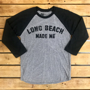 Long Beach Made Me Unisex Raglan
