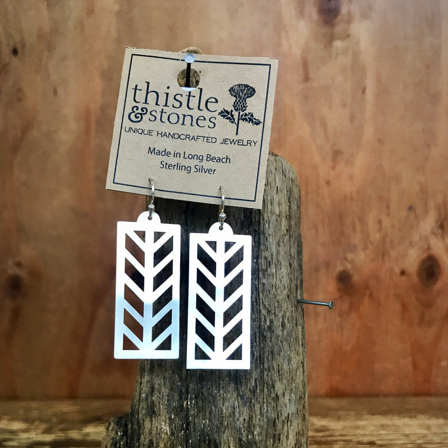 Tudor House Silver Earrings