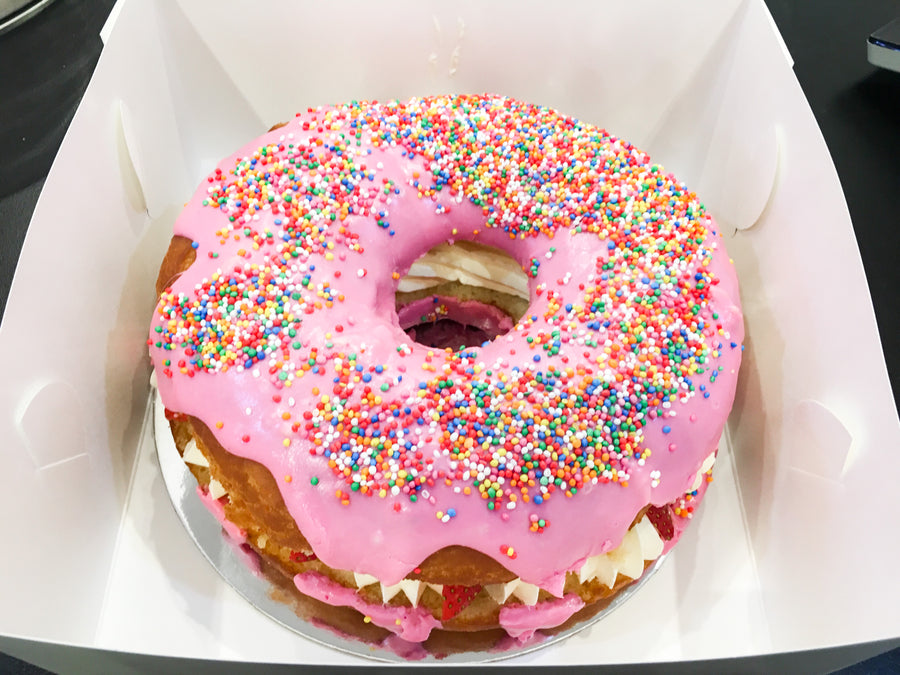 Strawberry Giant Donut