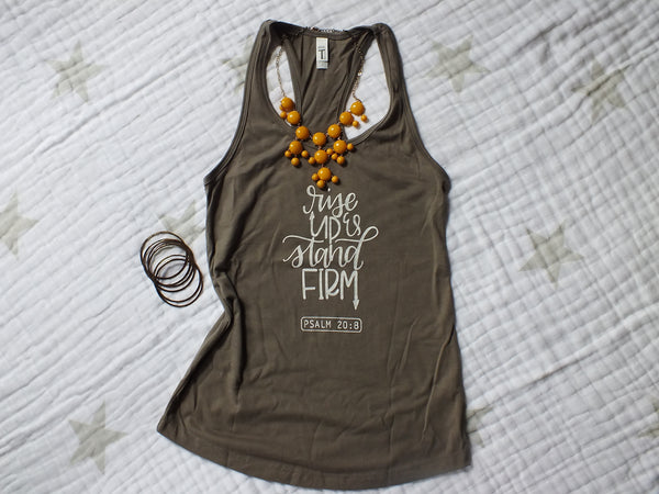 Rise Up & Stand Firm ·  Women's Racerback Tank