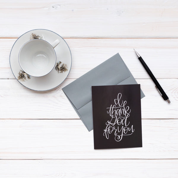 I Thank God For You · Greeting Card