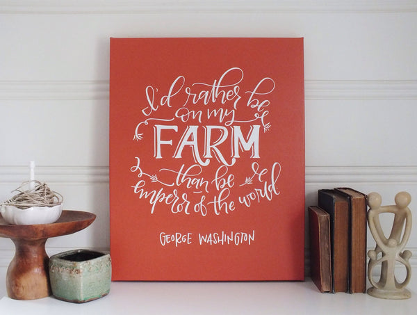On My Farm · Print/Canvas
