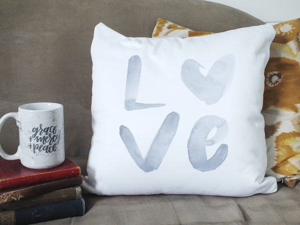 L O V E · Accent Pillow