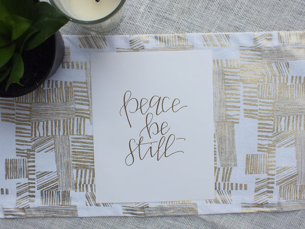 Peace, Be Still · Gold-Raised Art Print