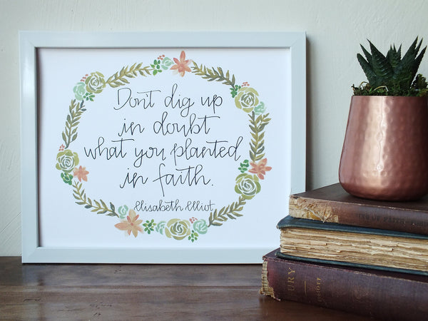 Planted in Faith · Print/Canvas