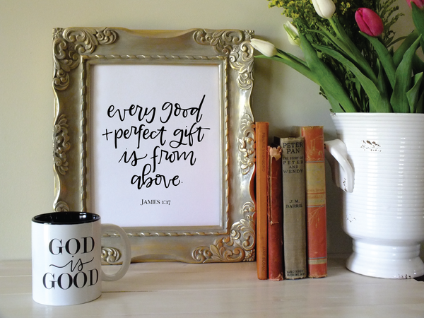 Every Good & Perfect Gift · Instant Download